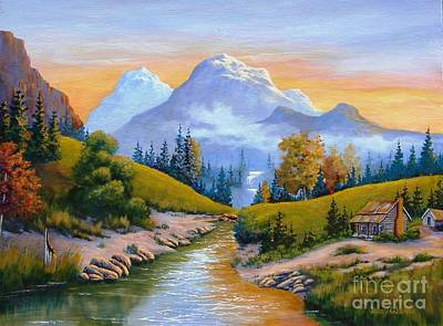 Painting - Mountain Stream by Jerry Walker