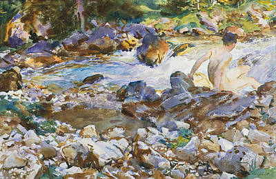 Painting - Mountain Stream by John Singer Sargent