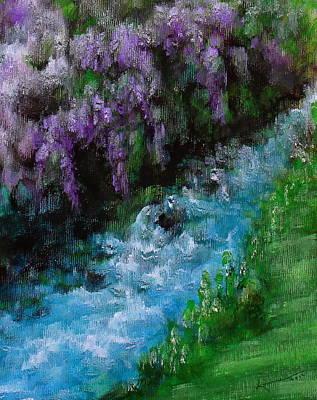Cascading Painting - Mountain Stream by Kume Bryant