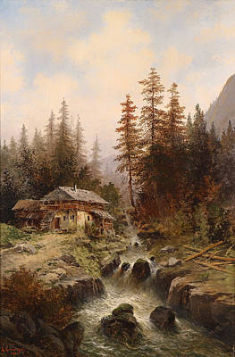 Mountain Valley Painting - Mountain Stream by Mountain Dreams