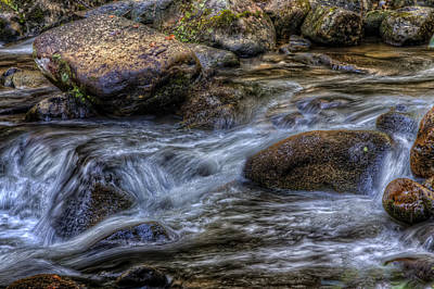 Mountain Stream On The Rocks Art Print