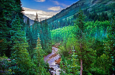 Photograph - Mountain Stream Sunset by Mark Andrew Thomas