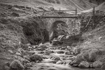 Photograph - Mountain Stream With Bridge by Roberto Pagani