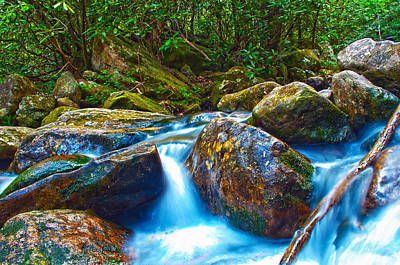 Art Print featuring the photograph Mountain Streams by Alex Grichenko