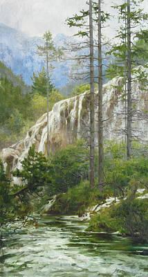 Mountain Streams Art Print by Victoria Kharchenko
