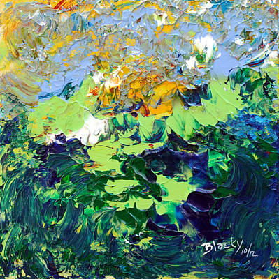 Donna Summer Painting - Mountain Summer by Donna Blackhall