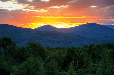 Sunset Photograph - Mountain Sunrise by Donna Doherty