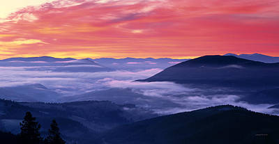 Photograph - Mountain Sunrise by Leland D Howard