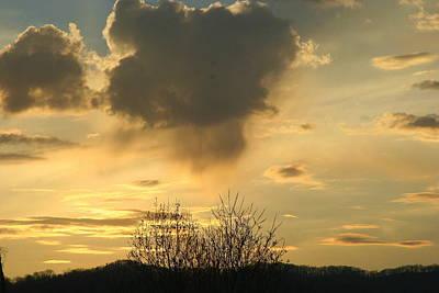 Photograph - Mountain Sunset Five by Paula Tohline Calhoun