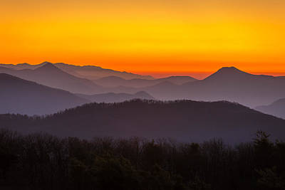 Mountain Sunset In Tennessee Art Print