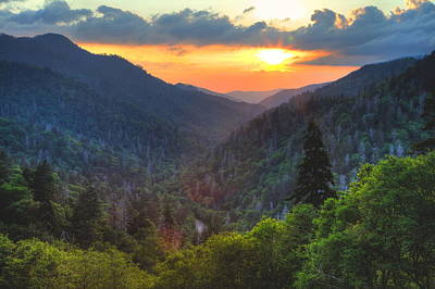Photograph - Mountain Sunset In The Smokies by Coby Cooper