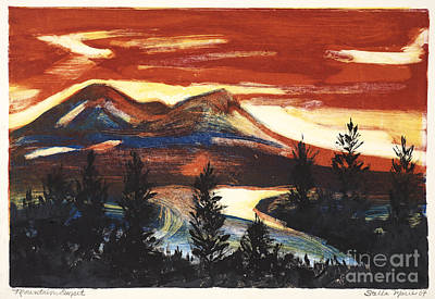 Painting - Mountain Sunset by Stella Sherman