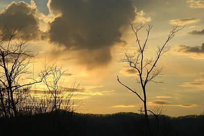 Photograph - Mountain Sunset Three by Paula Tohline Calhoun