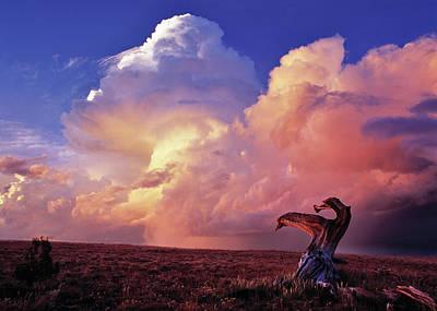 Idaho Photograph - Mountain Thunder Shower by Leland D Howard