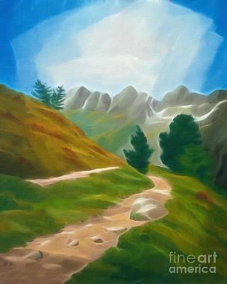 Mountain Trecking Art Print by Lutz Baar