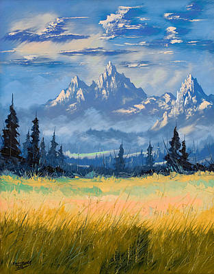 Painting - Mountain Valley by Richard Faulkner