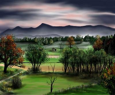 Painting - Mountain Valley by Ron Grafe