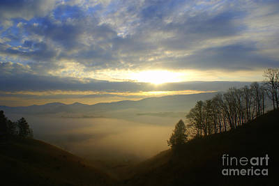 Mountain Valley Sunrise Art Print