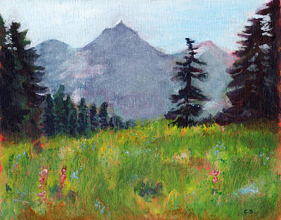 Painting - Mountain View by C Sitton