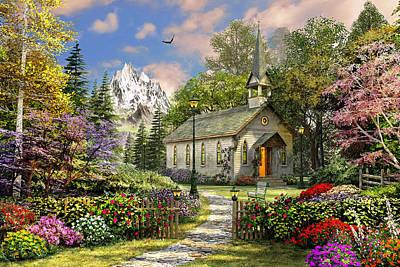 Meiklejohn Digital Art - Mountain View Chapel by Dominic Davison