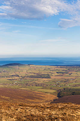 Mountain View From Djouce Mountain Towards Greystones Art Print by Semmick Photo