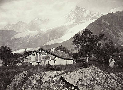 Mountain View Drawing - Mountain View In Switzerland, William England by Artokoloro
