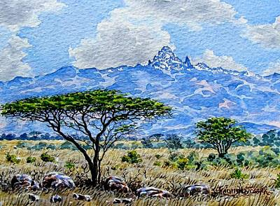 Painting - Mountain View by Joseph Thiongo