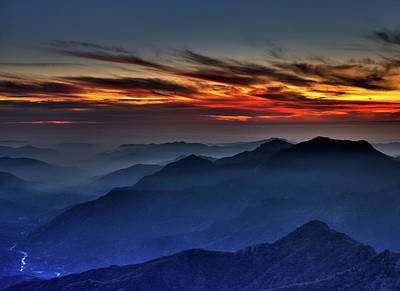 Photograph - Mountain View Sunset by Beth Sargent