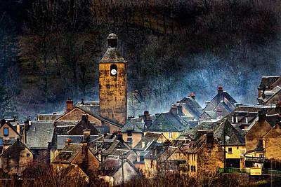 Rooftops Wall Art - Photograph - Mountain Village In France by Alain Mazalrey