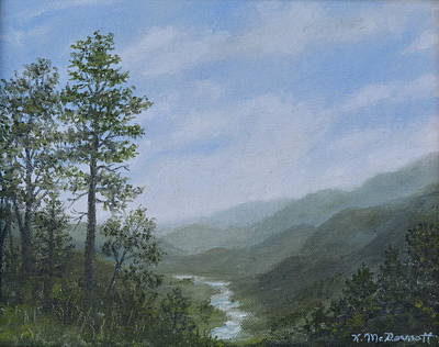 Smokey Mountains Painting - Mountain Vista 1 By K. Mcdermott by Kathleen McDermott