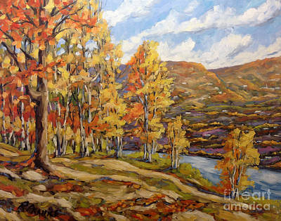 Quebec Painting - Mountain Vista By Prankearts by Richard T Pranke