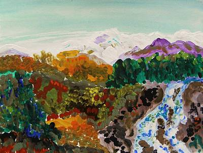 Mountain Water Art Print by Mary Carol Williams