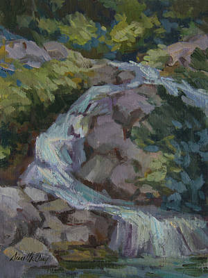 Painting - Mountain Waterfall by Diane McClary