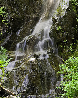 Photograph - Mountain Waterfall by Gary Neiss