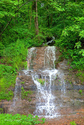 Almost Home Photograph - Mountain Waterfall II by Paulette B Wright