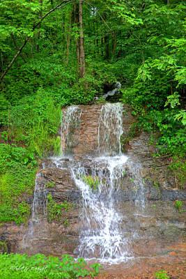 Photograph - Mountain Waterfall II by Paulette B Wright