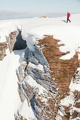 Mountaineer On The Cairngorm Plateau Art Print