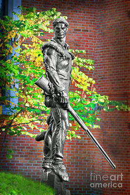 Sports Royalty-Free and Rights-Managed Images - Mountaineer statue by Dan Friend