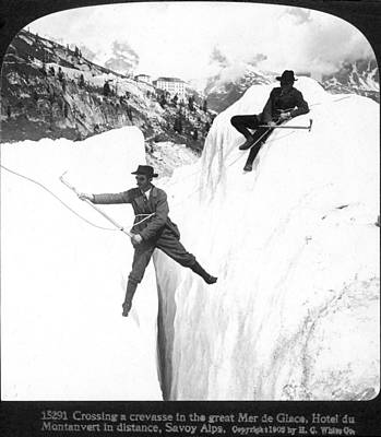 Ambition Photograph - Mountaineering, 1908 by Granger