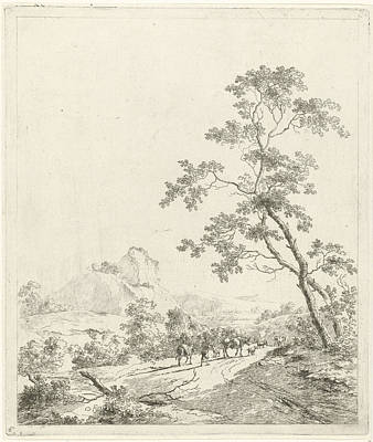 Mountainous Landscape With Shepherd And Shepherdess Art Print