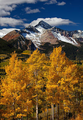 Autumn Scene Photograph - Mountainous Wonders by Darren  White