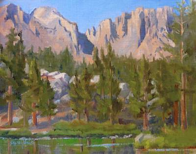 Painting - Mountains Above Emerald Lake by Sharon Weaver