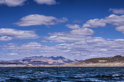Photograph - Mountains And Clouds From Lake Mead by  Onyonet  Photo Studios