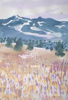 Mountains And Field Art Print by Suzanne McKay
