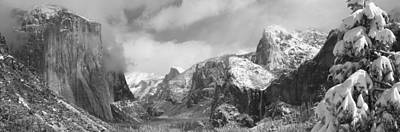 Cold Temperature Photograph - Mountains And Waterfall In Snow, Tunnel by Panoramic Images