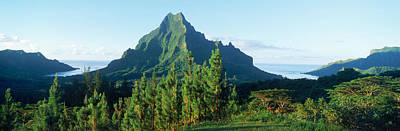 Moorea Photograph - Mountains At A Coast, Belvedere Point by Panoramic Images