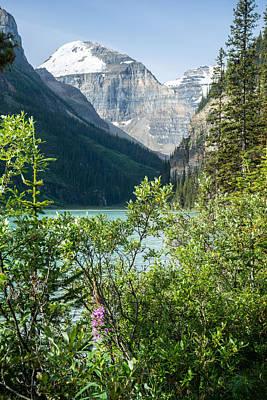 Mt Rushmore Royalty Free Images - Mountains at Lake Louise Alberta Canada Royalty-Free Image by Douglas Barnett