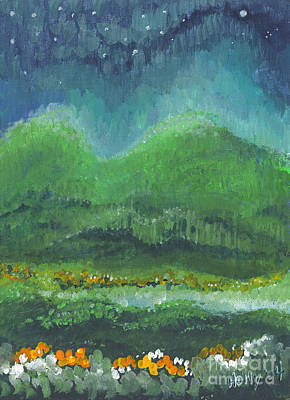 Painting - Mountains At Night by Holly Carmichael