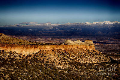 Mountains At Senator Clinton P. Anderson Scenic Route Overlook  Art Print