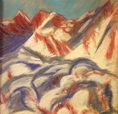 Mountains At Sunset Original by Elena Svobodina